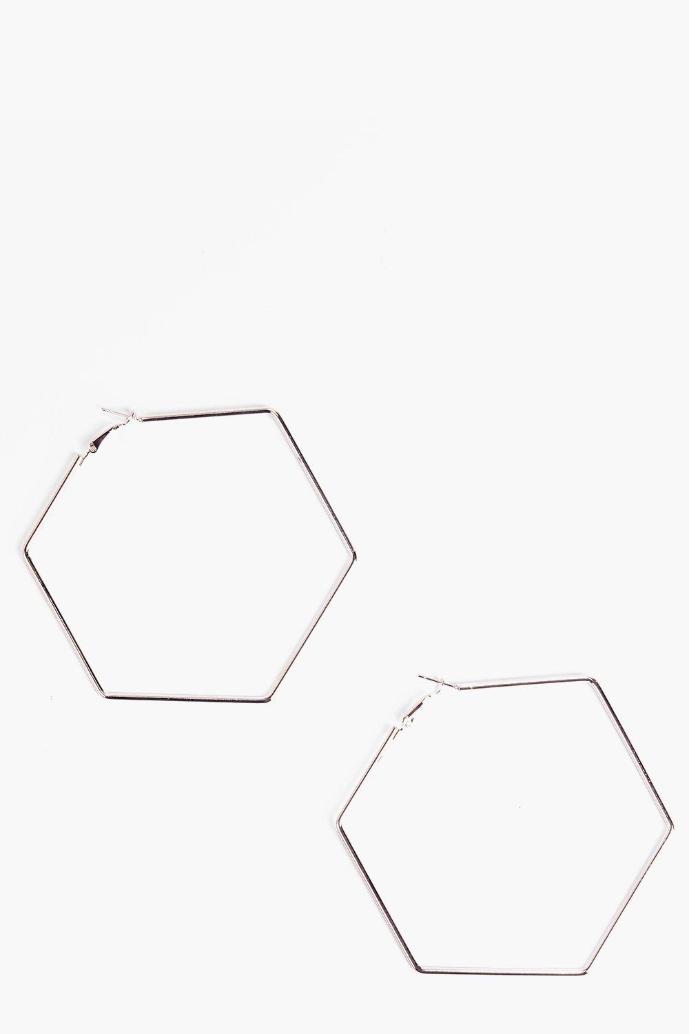 Annie Hexagon Hoop Earrings