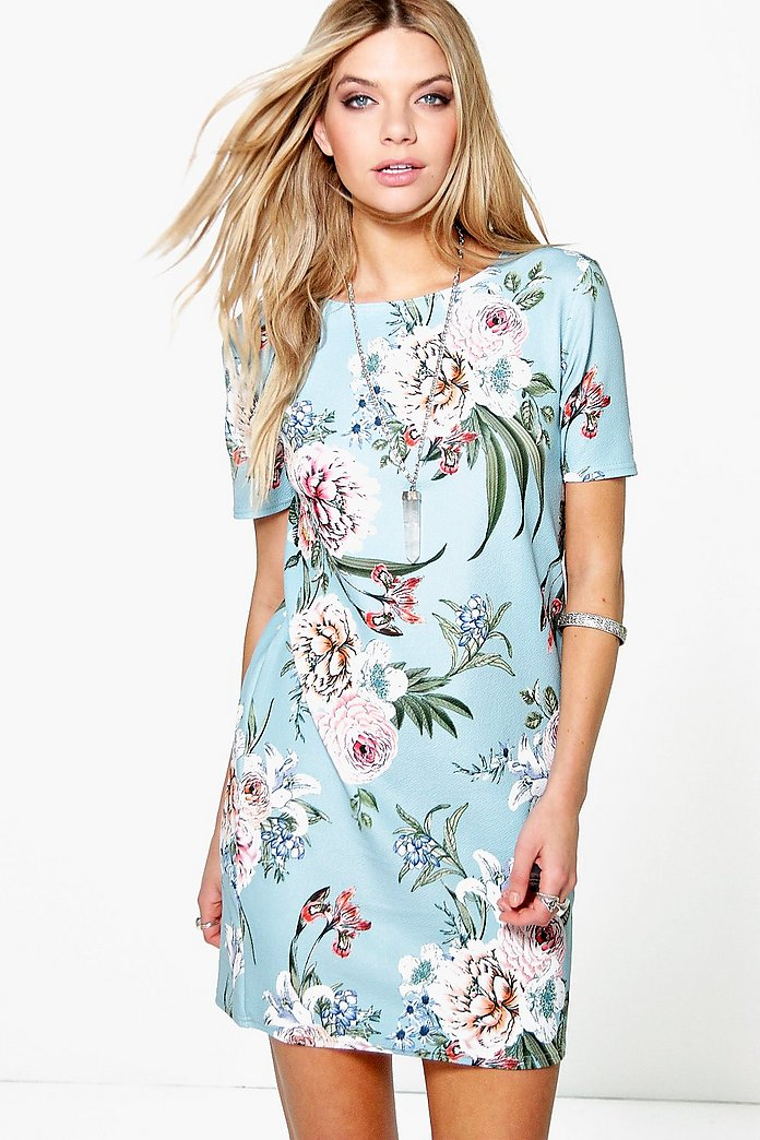 Kerry Flower Printed Summer Shift Dress