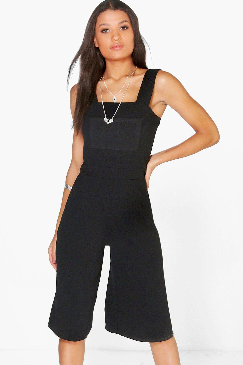 Joanna Pinafore Style Culotte Jumpsuit