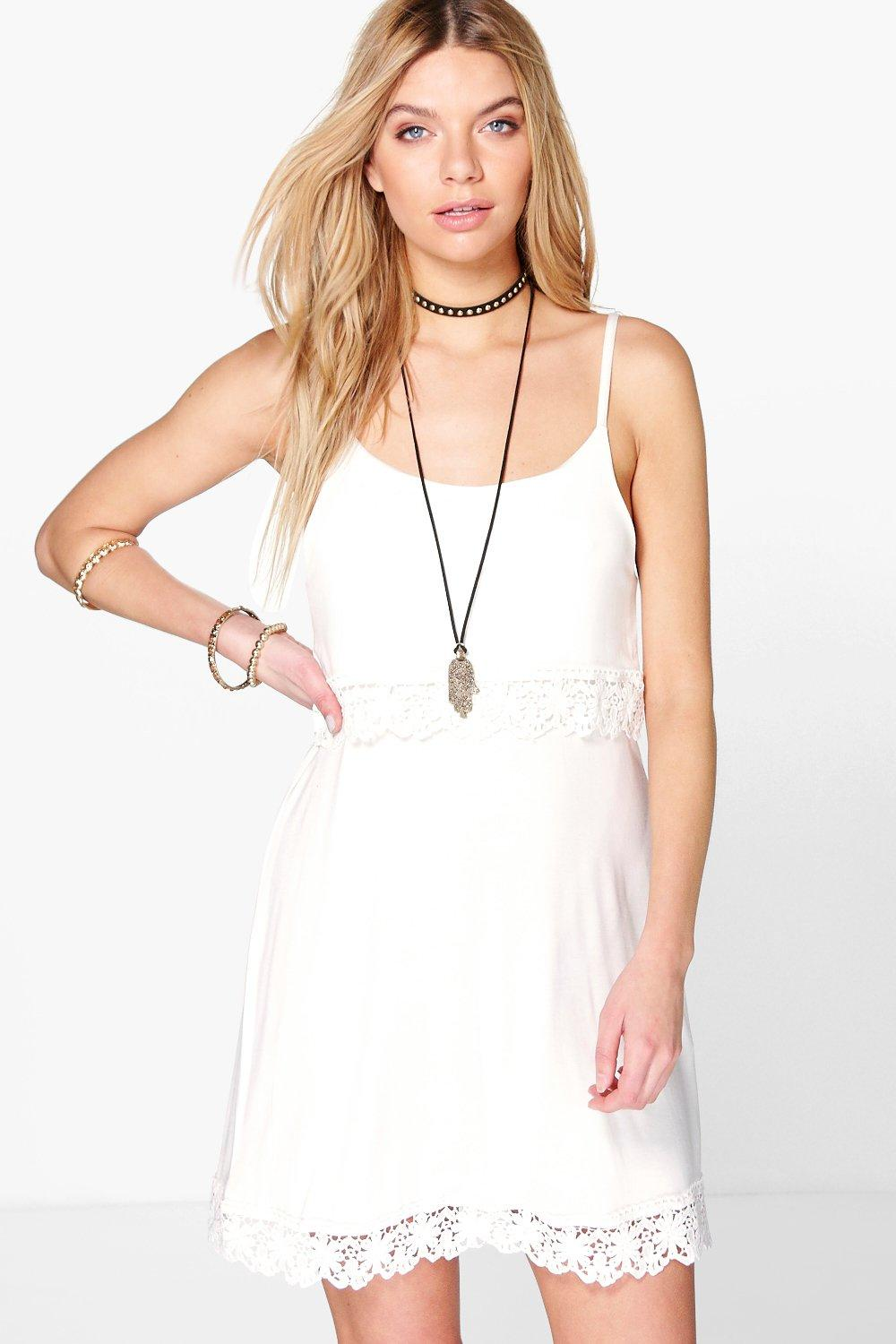 Mara Tie Strappy Double Layer Shift Dress