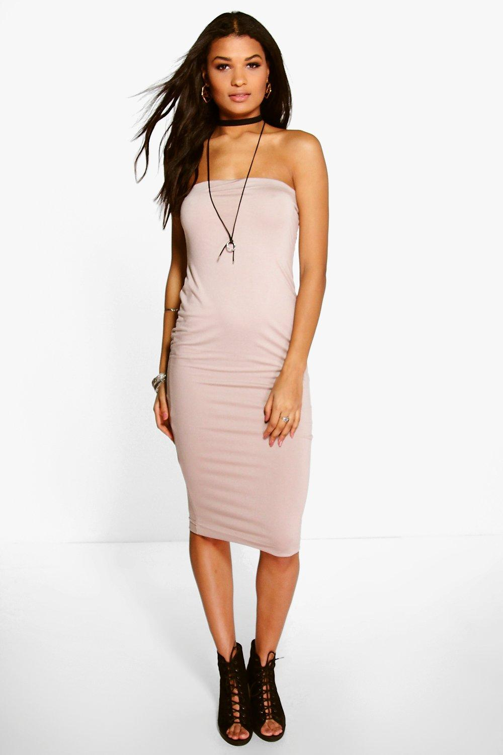 Nora Bandeau Double Layer Midi Dress
