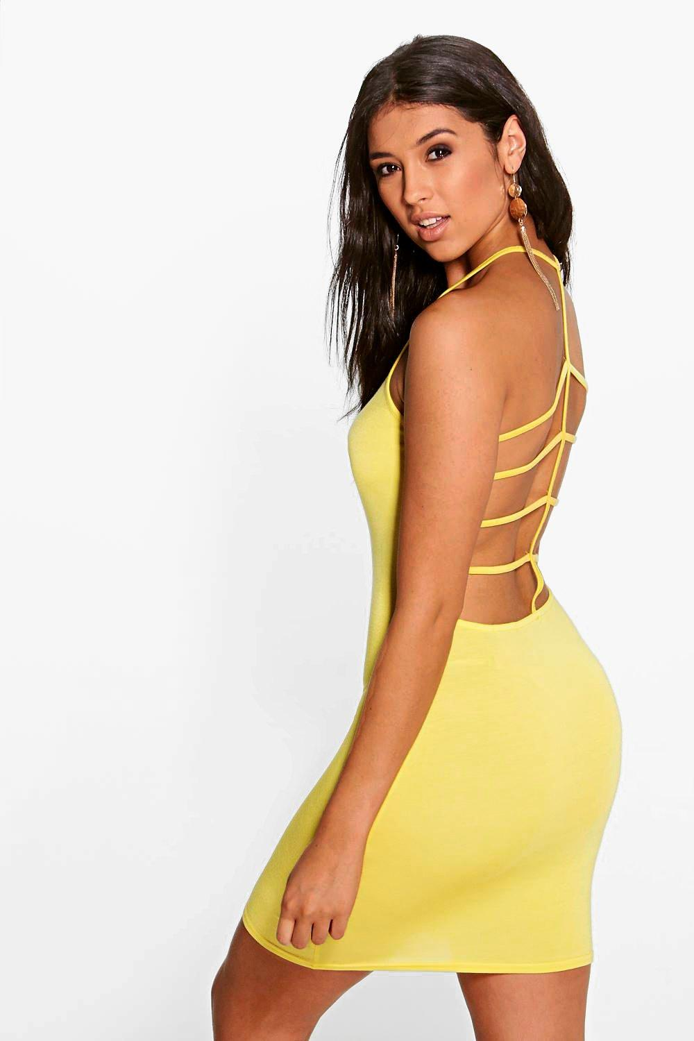 Amelia Strappy Back Bodycon Dress