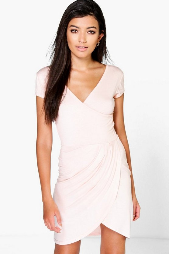 Kimmie Wrap Over Detail Dress