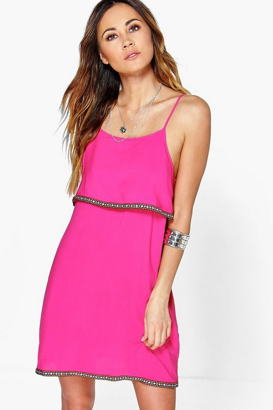 Harmony Tape Trim Tiered Cami Dress