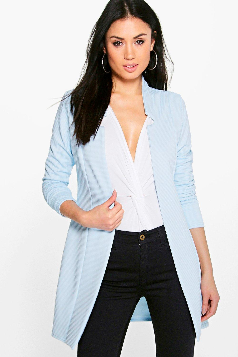 boohoo gracie blazer long c tel pour femme ebay. Black Bedroom Furniture Sets. Home Design Ideas