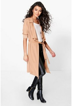 Lacey Waterfall Belted Trench