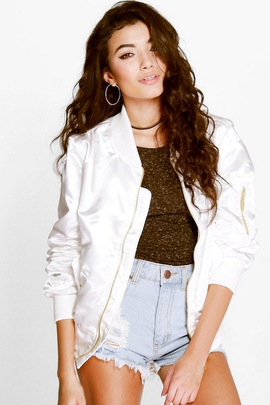 Megan Lightweight Satin MA1 Bomber