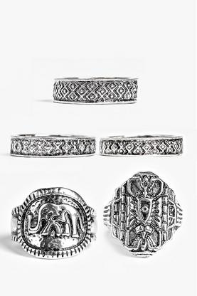 Elena Engraved Mixed Ring Pack
