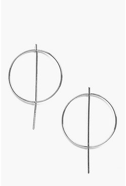Frankie Abstract Hoop Earrings