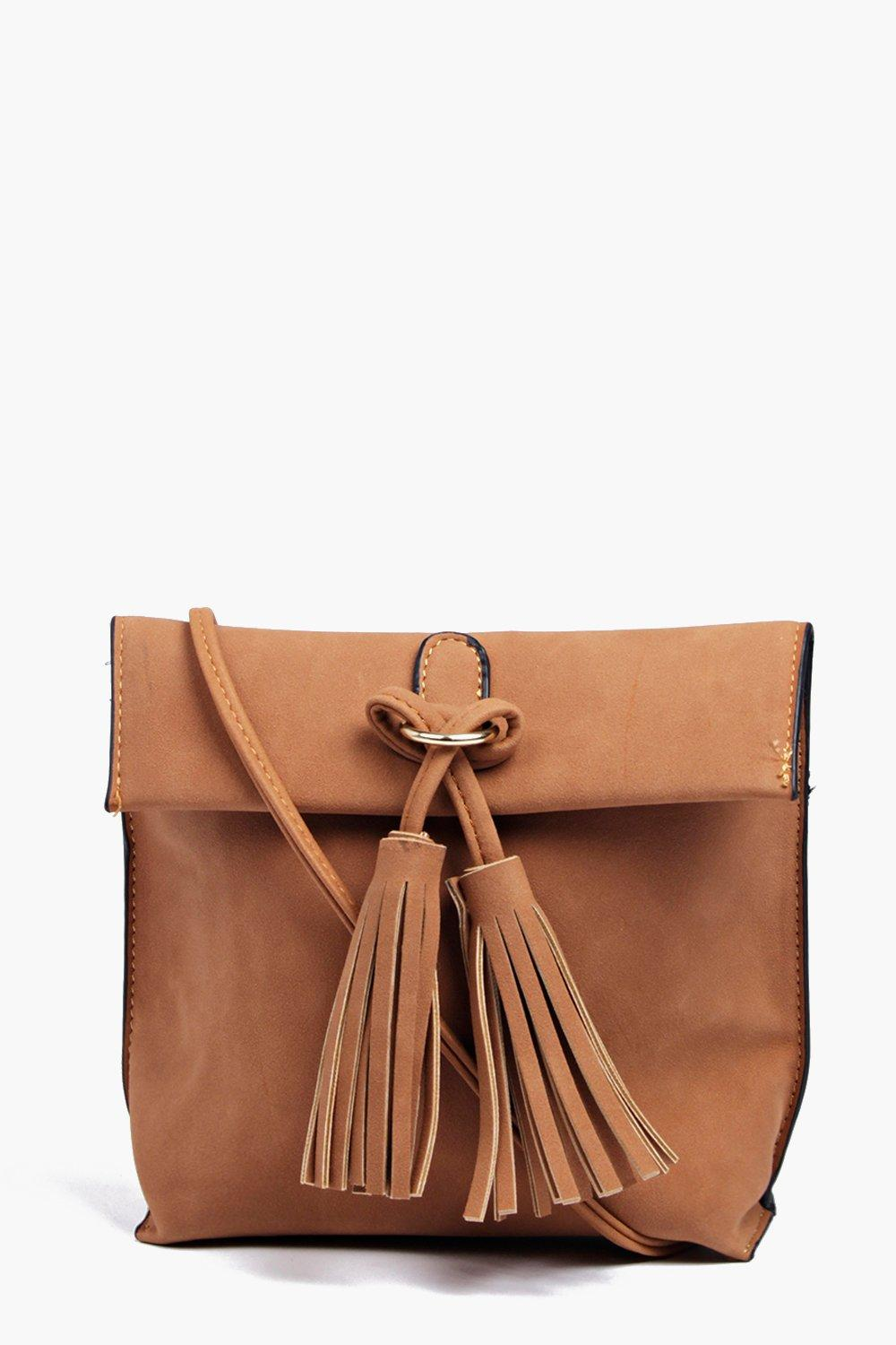 Eva Suedette Tassel Detail Cross Body Bag