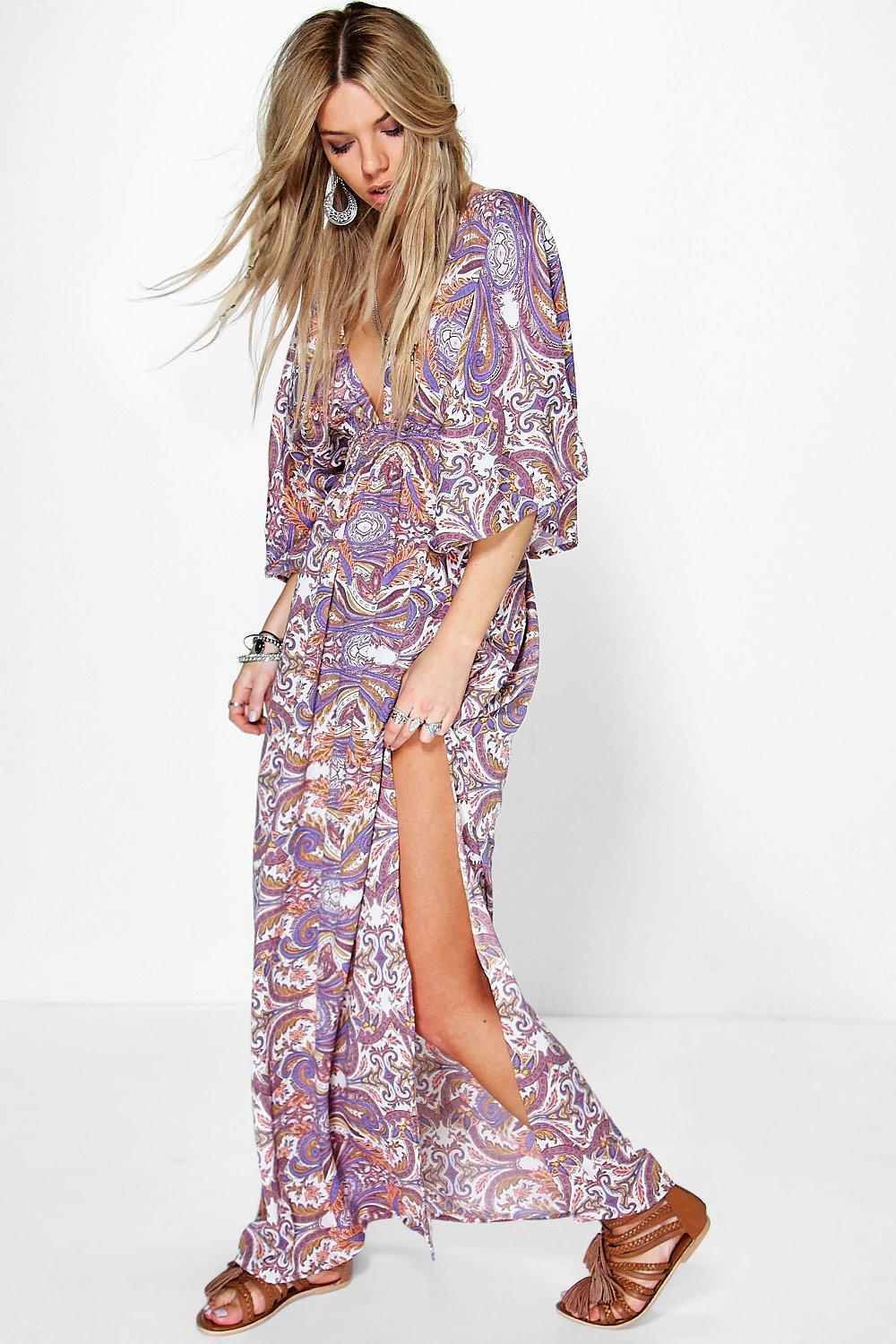 Leila Multi Paisley Maxi Dress