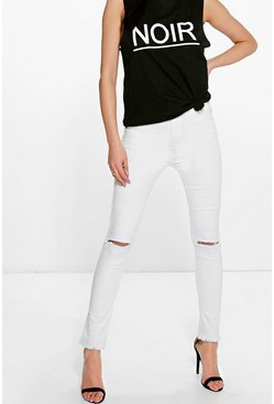 Eileen High Rise Frayed Hem