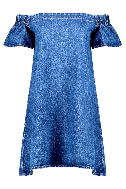 Awesome Light Blue Denim Sleeveless Dress  Swimwear365