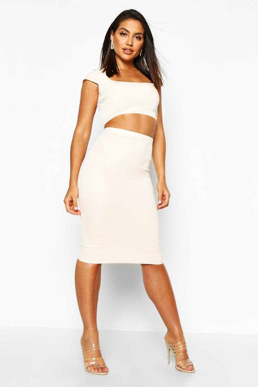 Astria Basic Scuba Midi Skirt