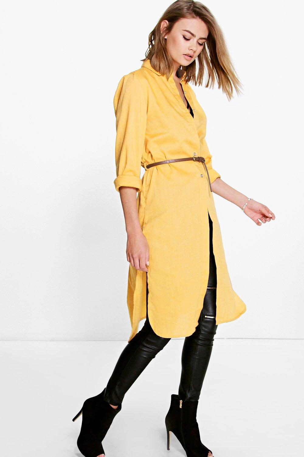 Claire Split Side Belted Shirt Tunic