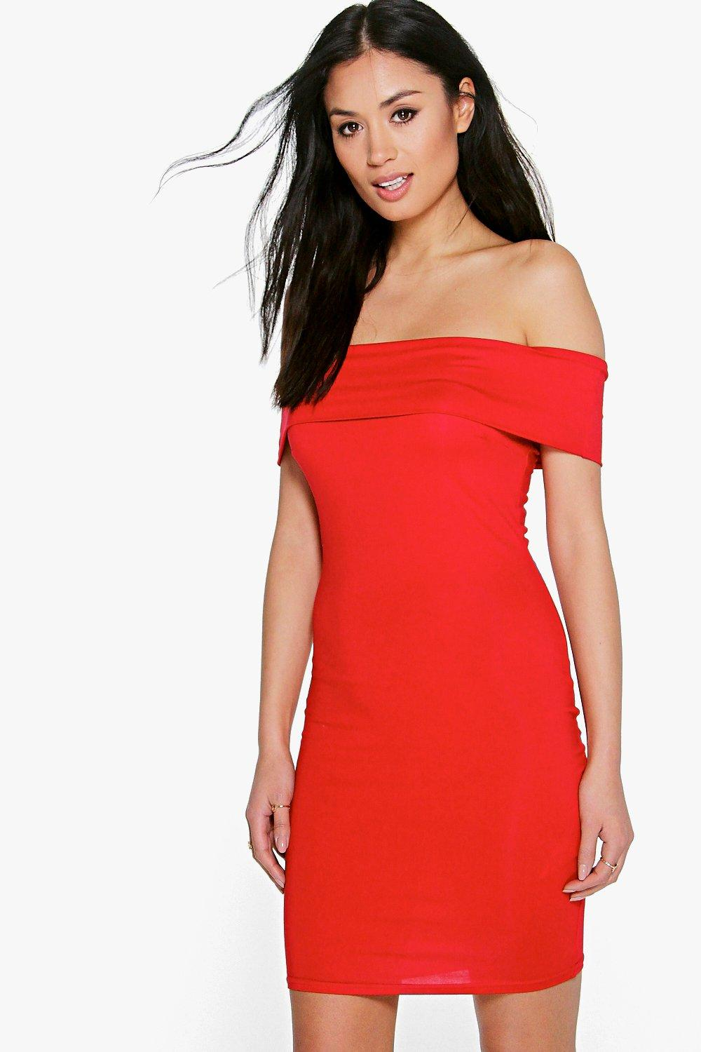 Louise Off The Shoulder Midi Dress