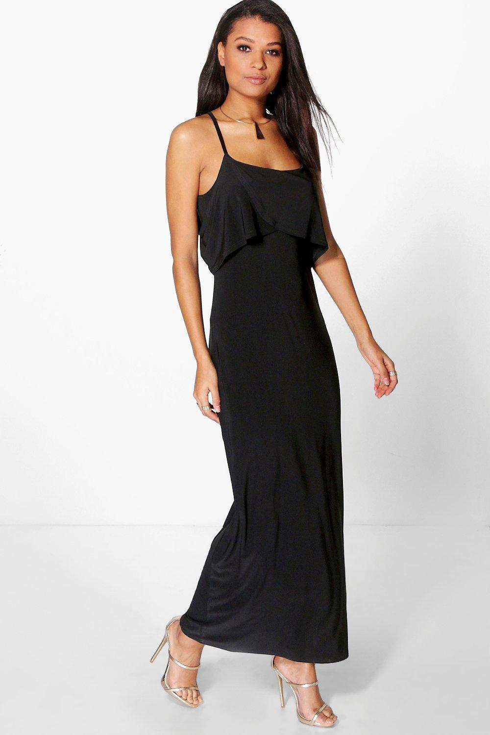 Lucy Ruffle Detail Maxi Dress