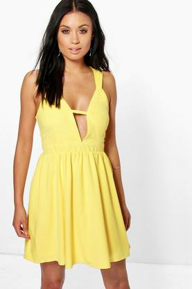 Blanca Strappy Detail Skater Dress
