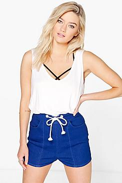 Julie Rope Tie Denim Short