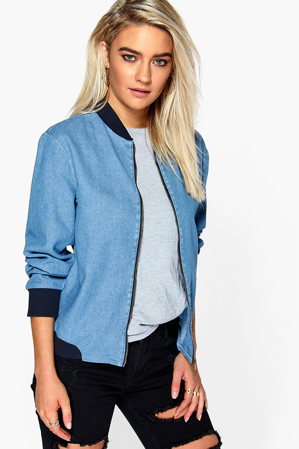 Katie Light Weight MA1 Denim Bomber