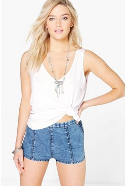 Jessie Denim Knicker Short