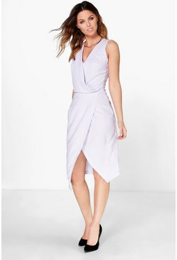 Nana Crepe Wrap Detail Midi Dress
