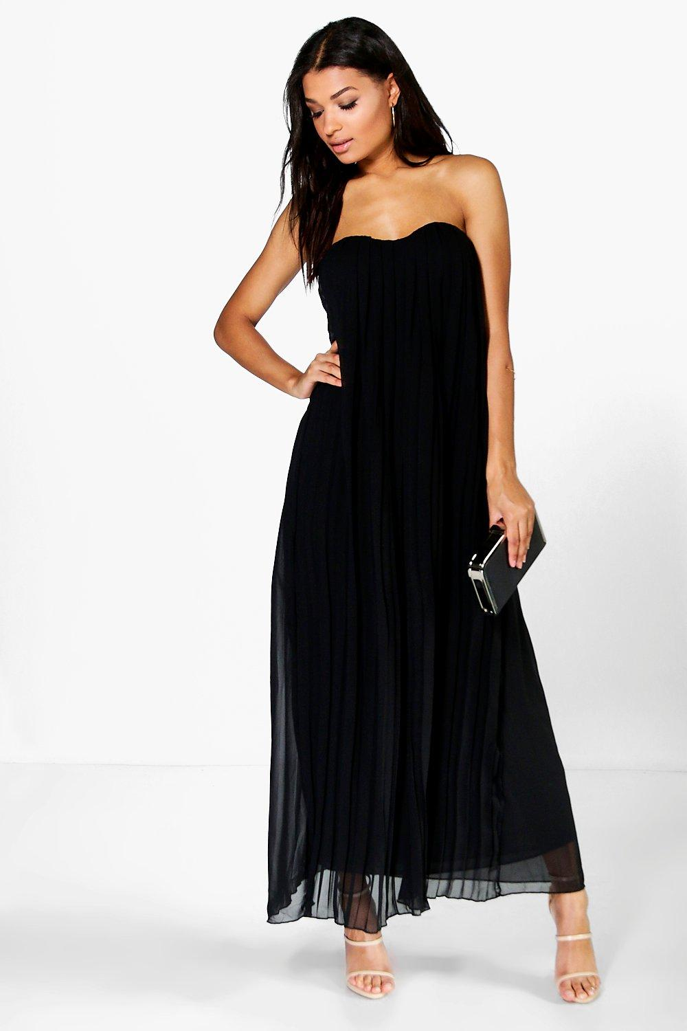 Darleen Bandeau Pleated Chiffon Maxi Dress