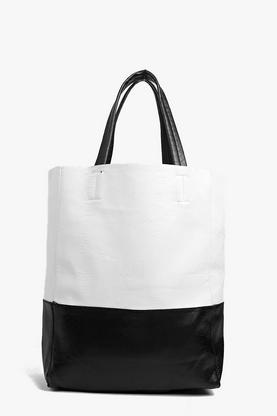 Ava Contrast Panel Snake Effect Shopper Bag