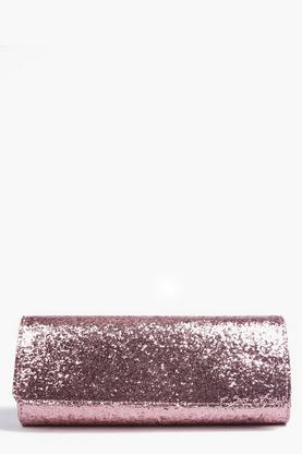 Kara Structured Glitter Clutch Bag