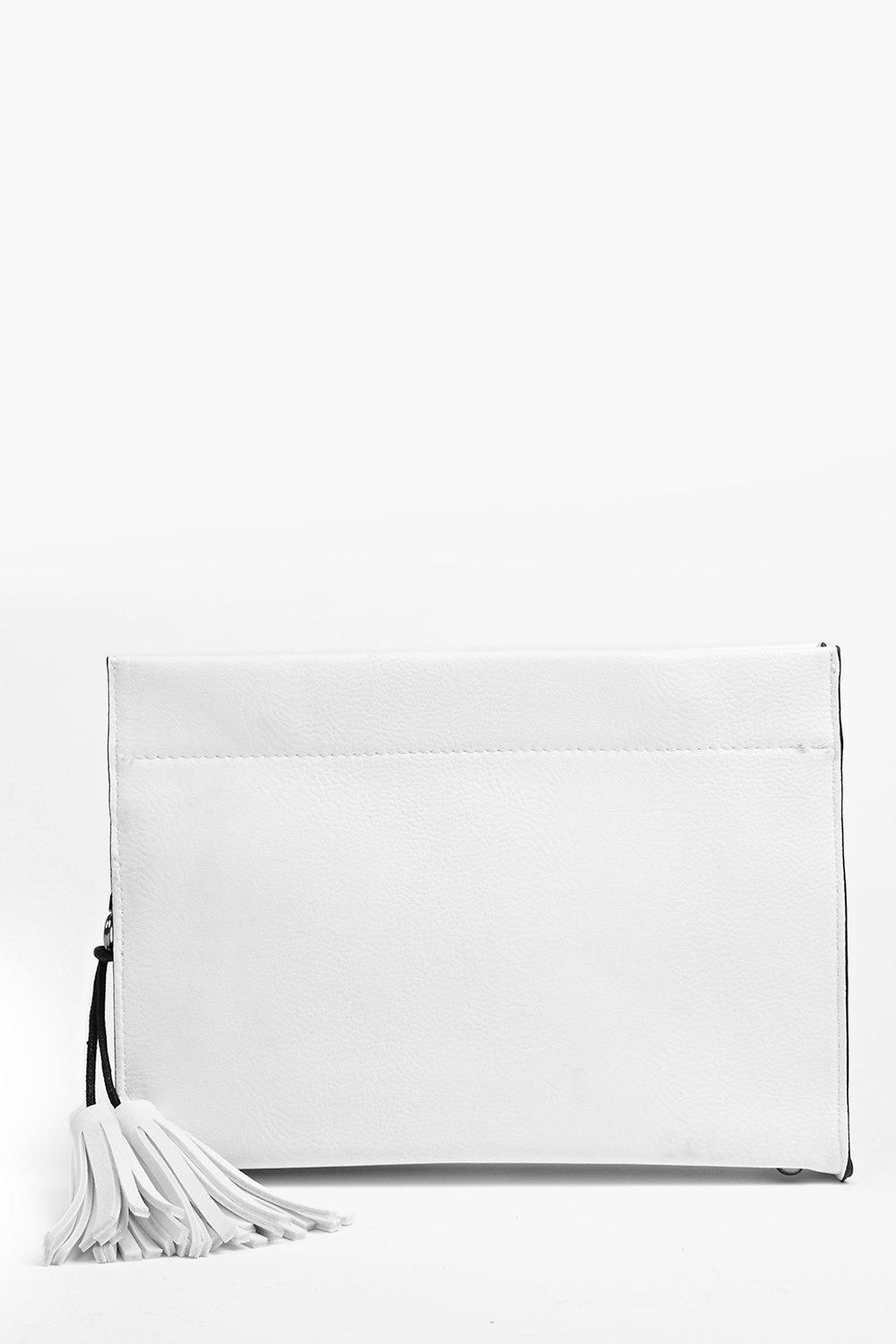 Yasmin Structured Clutch Bag
