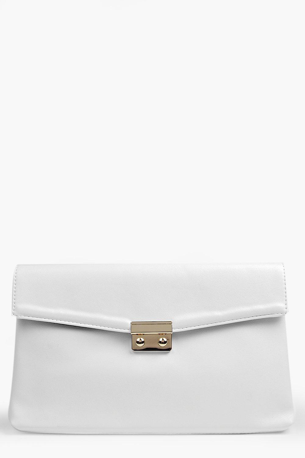 Nina Metal Clasp Clutch Bag