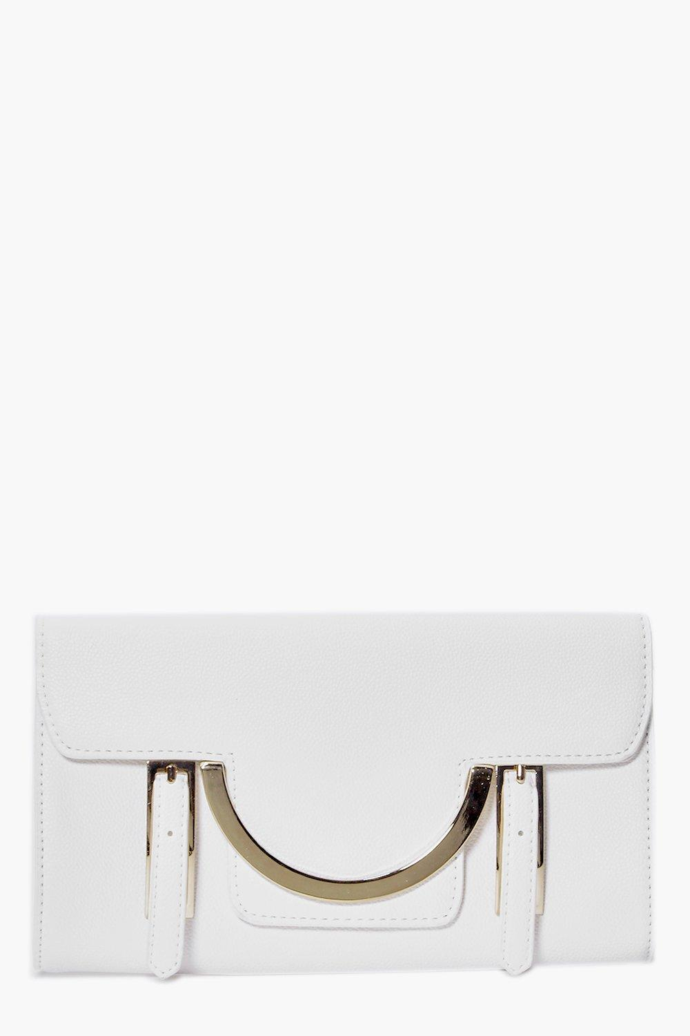 Nadia Metal Detail Clutch Bag