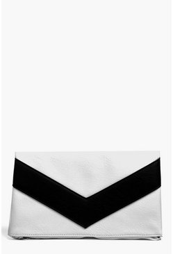 Robyn Contrast Panel Clutch Bag
