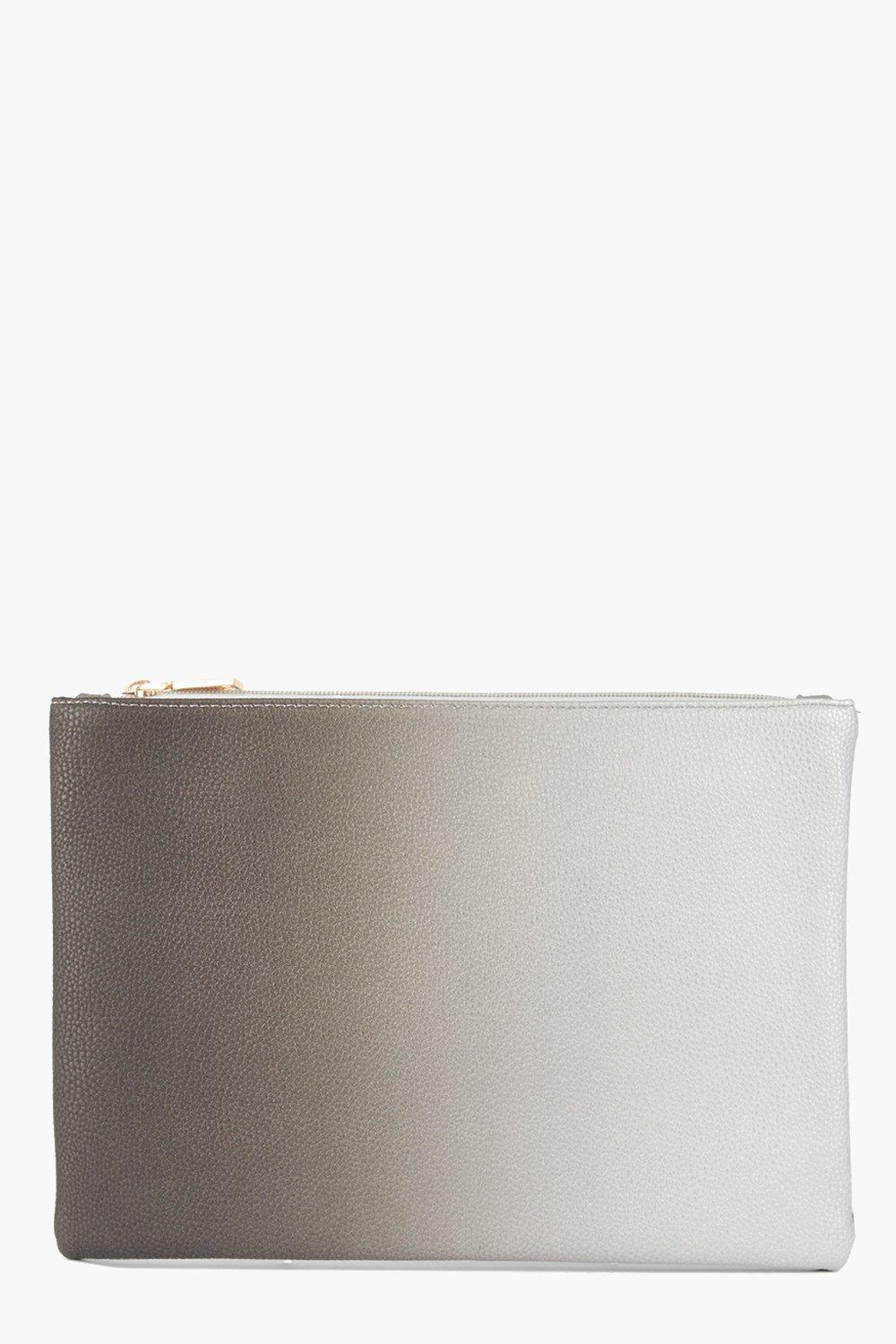 Lena Ombre Zip Top Clutch Bag