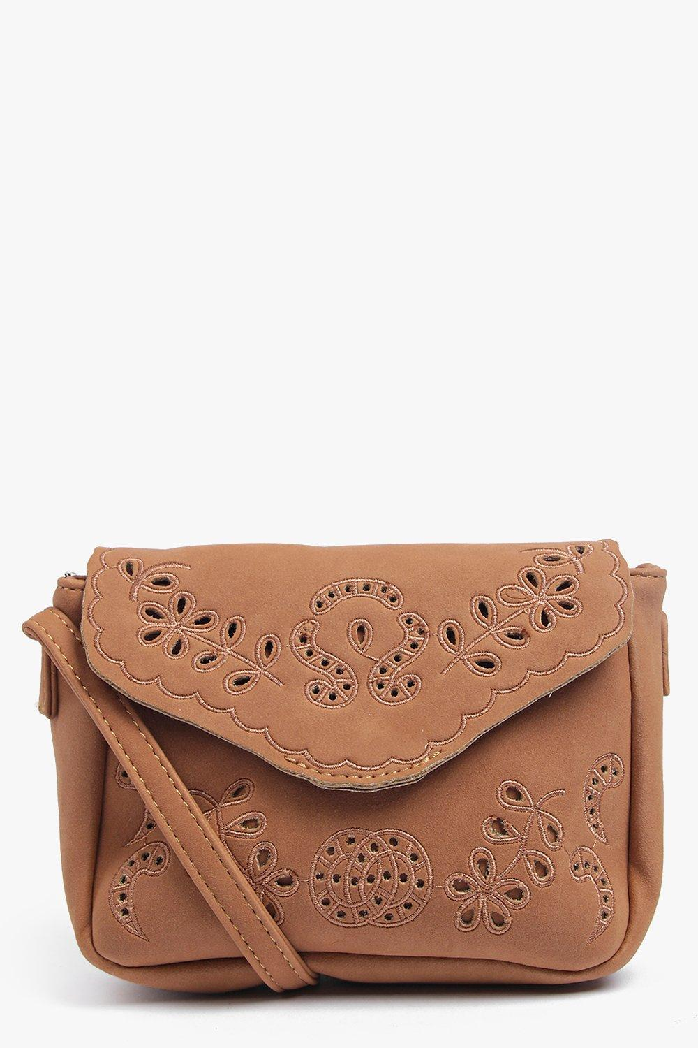 Eva Suedette Embroidered Cross Body Bag