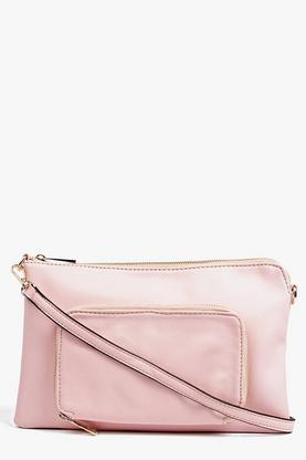 Amy Pocket Front Zip Top Clutch Bag