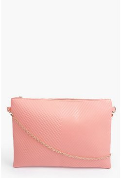 Maya Panelled Oversized Clutch Bag