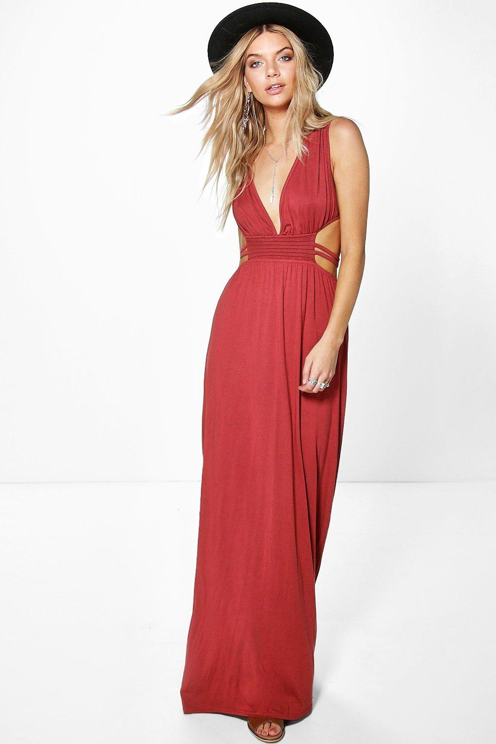 Ava Rouched Waist Band Maxi Dress