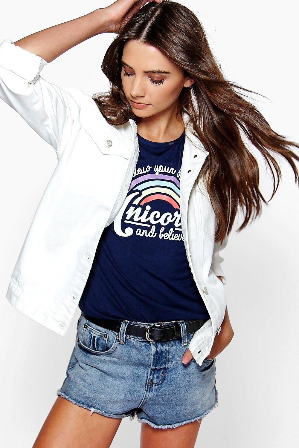 Kellie Oversized White Boyfriend Denim Jacket