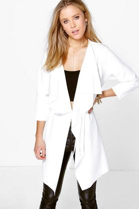 Paige Waterfall Skinny Belt Duster