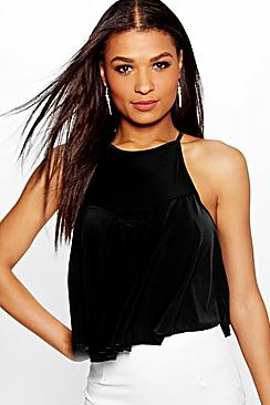 Alice Slinky Cross Back Swing Crop Cami