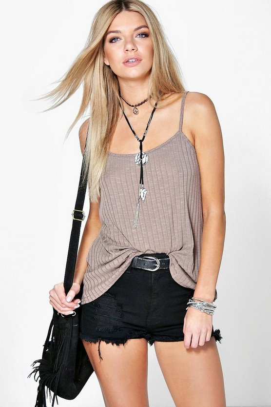 Amy Deep Rib Swing Cami