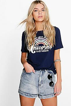 Lexi High Waisted Denim Stone Wash Mom Shorts