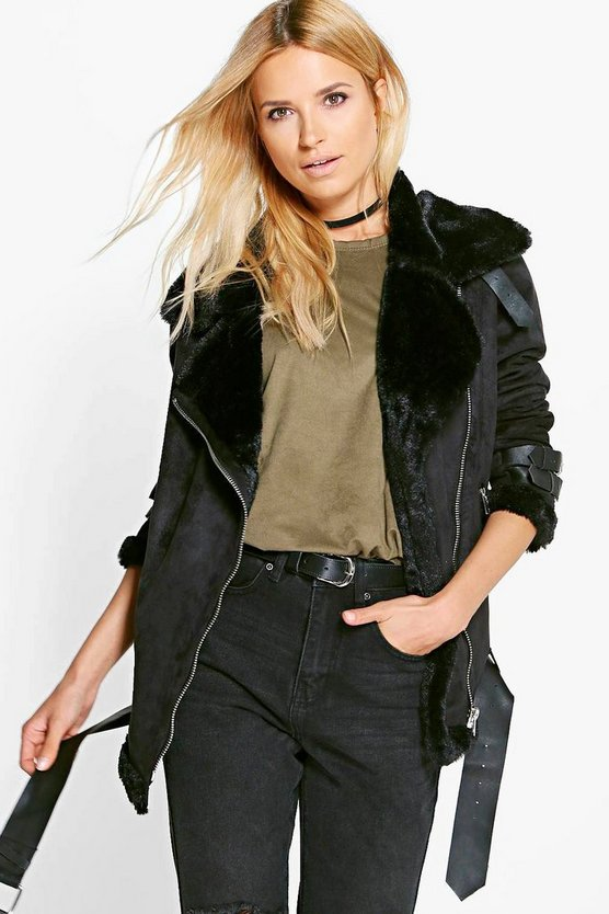 Boutique Paige Bonded Aviator Jacket