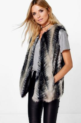 Alice Multi Toned Faux Fur Gilet