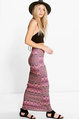 Avianna Bright Bohemian Maxi Skirt