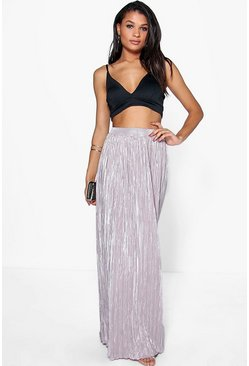 Aurelia Metallic Pleat Maxi Skirt