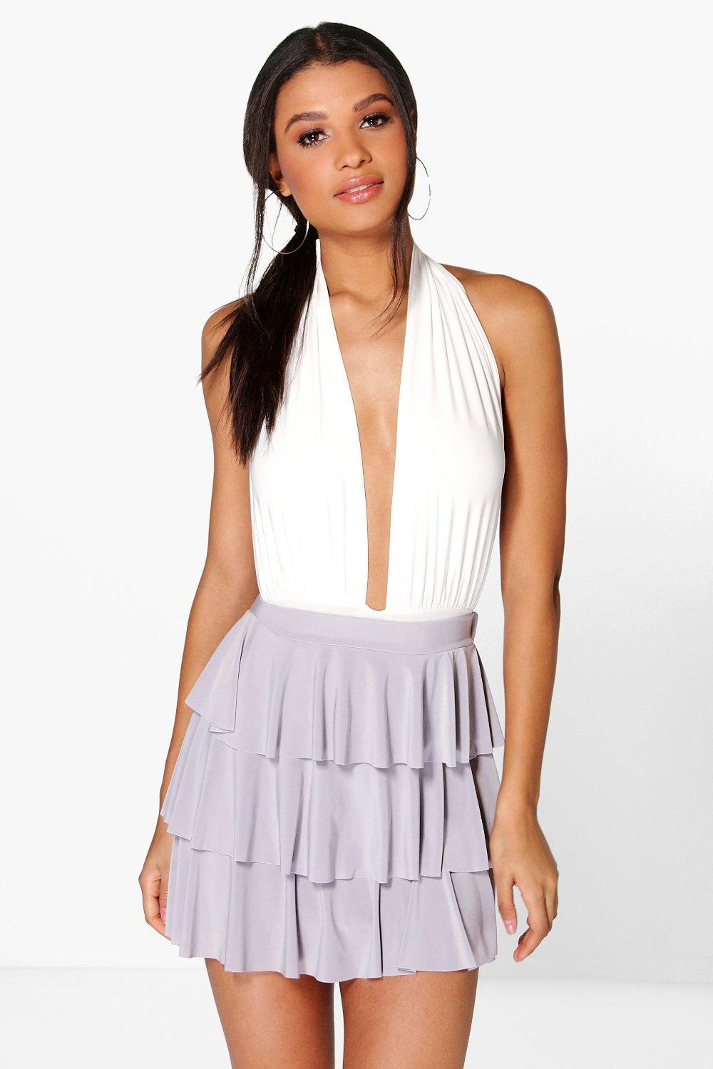 Annora Ruffle Hem Mini Skirt