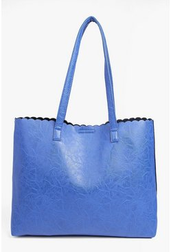 Elena Scallop Edge Shopper Bag