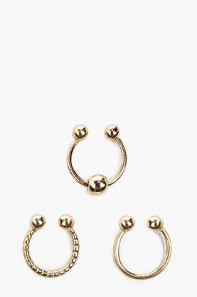 Paige 3 Simple Septum Ring Set